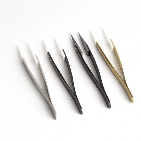 Ceramic Tweezer Straight SS Handle Useful Tool For DIY Building RDA RTA RDTA Vape Electronic Cigarette