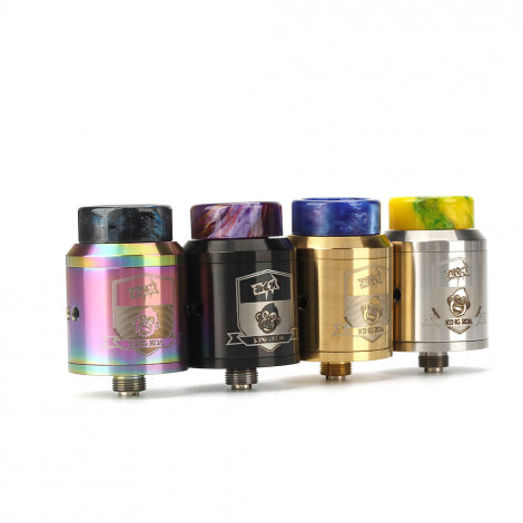King V3 RDA with BF PIN 810 Drip Tip 24mm Adjustable Airflow Tank For Electronic Cigarette Squonk Box Mod Black,Silver,Glod,Rainbow