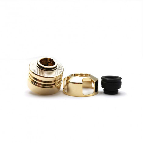 Engine Style 22mm RDA Rebuildable Dripping Atomizer w/ BF Pin - Gold Color