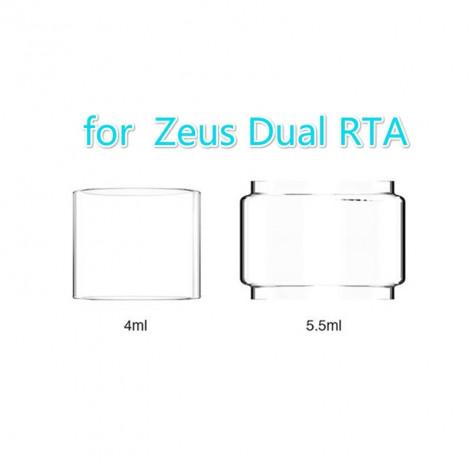 3PCS Original Replacement Glass TUBE Tank for Geekvape Zeus Dual RTA 4ml /5.5ml