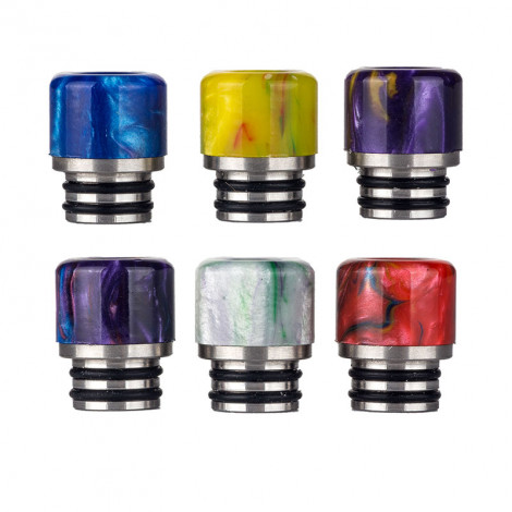 510 SS + Resin Drip Tips Random Colors Delivery