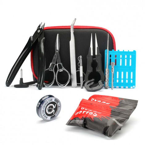 X9 Master V3 Tool Kit DIY Tools Kit Vape Bag Tweezers Pliers Wire Coil Jig Winding for RDA RTA RDTA Atomizer