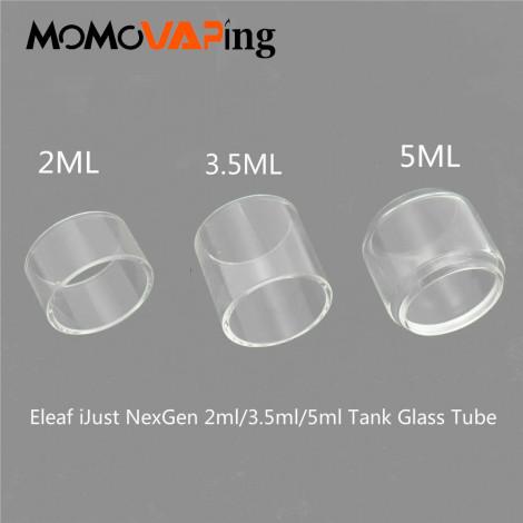 3pcs 2ml Replacement Pyrex Fatboy Bubble Clear Transparent Glass Tube For Eleaf iJust NexGenTank