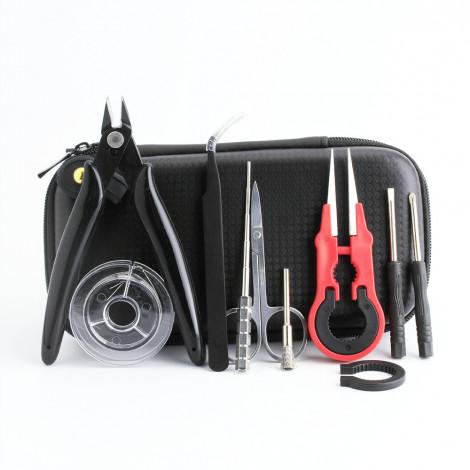 Coil father mini vape diy tool kit bag resistance wire pliers burshes tweezers for electronic cigarette rda coil jig tool vape