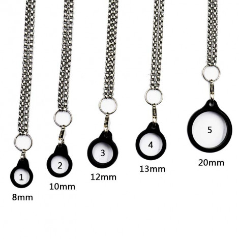 Necklace stainless steel Lanyard 8mm 10mm 12mm 13mm 20mm silicone rings Anti-Slip Bands ring