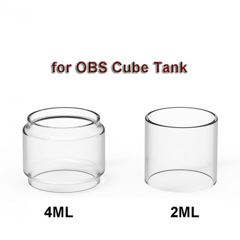 3PCS Replacement Glass Tank Tube for OBS Cube Tank 2ml Straight glass