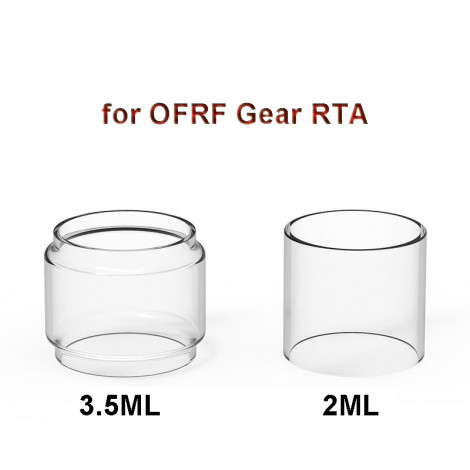 3PCS Replacement Glass Tank Tube for OFRF Gear RTA 3.5ml Fatboy Glass