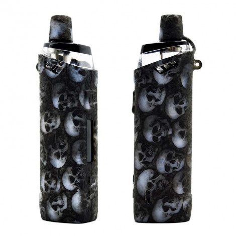 Protective Silicone case cover shield wrap Skin Skull Head For Target PM80 SE Pod Kit