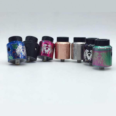 Momovaping Reckoning RDA Rebuildable Atomizer 25mm 510 thread RDA With Wide Bore Drip Tip and Apocalypse GEN 25 RDA with BF