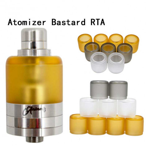 Replacement Bell Cap Tank Tube for Bastard / Bastd Style RTA Black Yellow Transparent Color