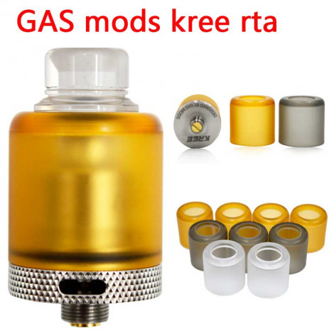 Replacement Bell Cap Tank Tube for Gas Mods Kree RTA Black Yellow Transparent Color