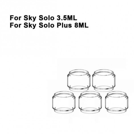 Replacement Pyrex Fat Bubble Glass Tube Tank For Sky Solo / Sky Solo Plus Tank