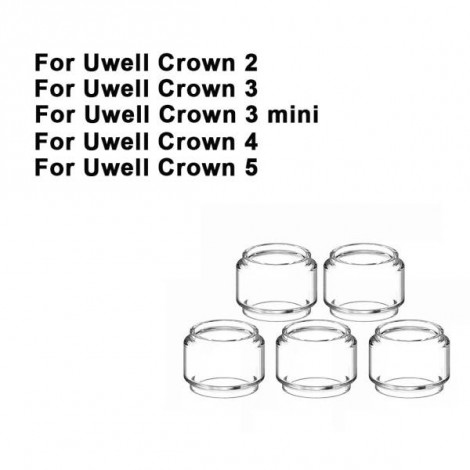 Replacement Pyrex Fat Bubble Glass Tube Tank For Uwell Crown 5 Crown 4 Crown 3 Mini 2