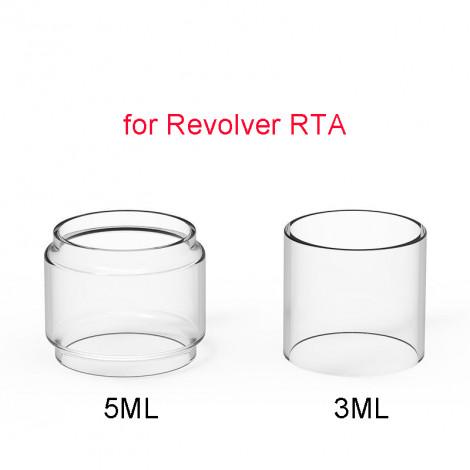 3PCS 2ml Replacement Straight Glass Tank Pyrex Tube for Vandy Vape Revolver RTA 25MM RTA