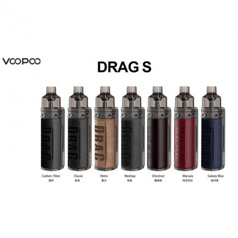 Authentic VOOPOO DRAG S 60W 2500mAh VW Mod Pod System Vape Starter Kit