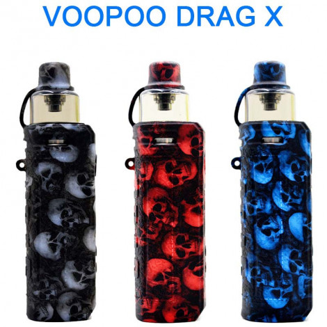 Protective Silicone case cover shield wrap Skin Skull Head For Drag x