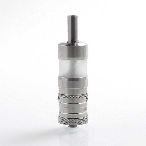 YFTK Flash e-Vapor V4.5 Style RTA Rebuildable Tank Atomizer - Silver, 316 Stainless Steel, 23mm Diameter