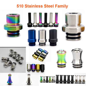 510 family stainless steel Drip Tips for 510 Vape RDA RTA