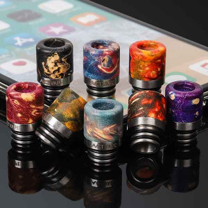 Standard 510 Stabilized Wood Drip Tip Tips - Random Color