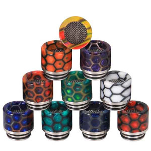 810 New Anti-Spit Filter Snake Skin Resin + SS stainless steel 810 Mouthpiece drip Tip