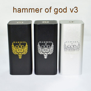 Hammer of God V3 style Mechanical Box Mod Huge Power Electronic Cigarette Vape Mod 4 x 18650 Battery supported RDA RTA RDTA