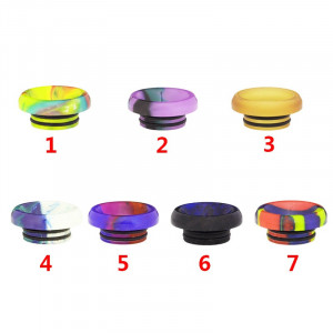 Epoxy Wide Bore Short 810 Drip Tip Low Profile Drip Tip Goon Delrin Mouthpiece Replacement random color delivery