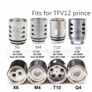 5pcs V12 Prince-M4/Q4/X6/T10 Replacement Coil Head Atomizer Core for SMOK TFV12 Prince Tank Mag 225w TC Kit - Q4