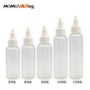 50/60/100/120ML Capacity PE E-Cigarette Oil Bottle Empty Liquid Dropper Bottle (5-pack)