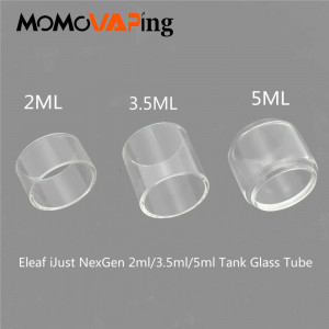 3pcs 2ml Replacement Pyrex Fatboy Bubble Clear Transparent Glass Tube For Eleaf iJust NexGenTank