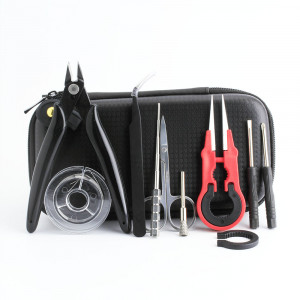Coil father mini vape diy tool kit bag resistance wire pliers burshes tweezers for electronic cigarette rda coil jig tool vape