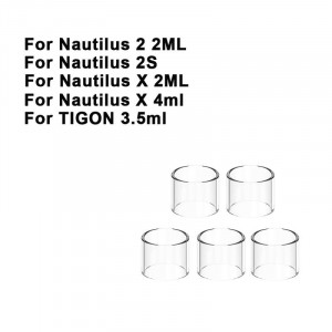 Replacement Pyrex Straight Glass Tube Tank For Nautilus 2 / Nautilus 2S / Nautilus X / TIGON 3.5ml Tube Tank