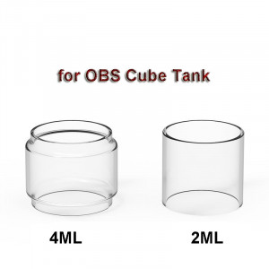3PCS Replacement Glass Tank Tube for OBS Cube Tank 4ml Fat glass