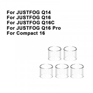 Replacement Pyrex Straight Glass Tube Tank For Justfog Compact 14 / Q14 / Q16 / Q16C / Q16 Pro Glass Tank