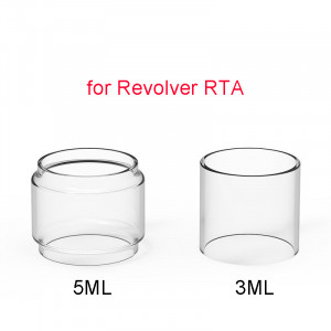 3PCS 2ml Replacement Straight Glass Tank Pyrex Tube for Vandy Vape Revolver RTA 25MM RTA