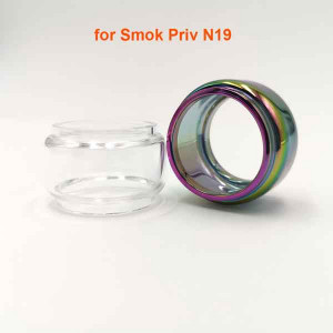 Fat Glass Tube or with Dust Cap for Smok Priv N19 - 2PCS/lot