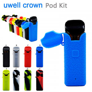 Protective Silicone case cover Skin decal wrap For Uwell Crown Pod Starter Kit