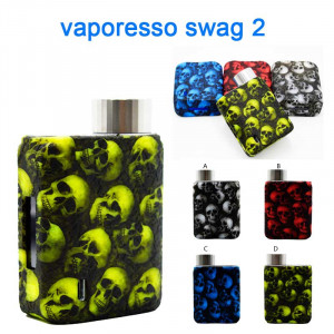 Protective Silicone Skull Head case cover Skin decal wrap For vaporesso swag 2 80w Kit