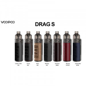 Authentic VOOPOO DRAG S 60W 2500mAh VW Mod Pod System Vape Starter Kit