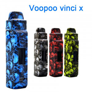 Protective Silicone case cover Skin decal wrap for Voopoo Vinci X Skull Head