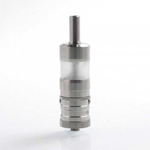 YFTK Flash e-Vapor V4.5 Style RTA Rebuildable Tank Atomizer - Silver, 316 Stainless Steel, 23mm Diameter